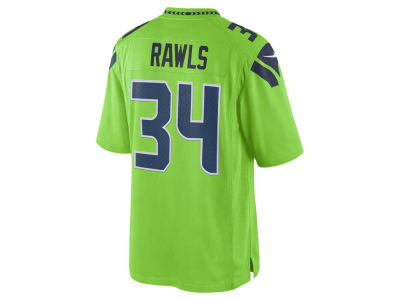 Seattle Seahawks Thomas Rawls Nike NFL Men's Limited Color Rush Jersey