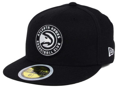 Atlanta Hawks New Era NBA Kids Black White 59FIFTY Cap