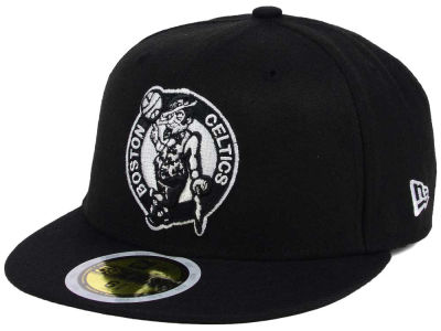 Boston Celtics New Era NBA Kids Black White 59FIFTY Cap