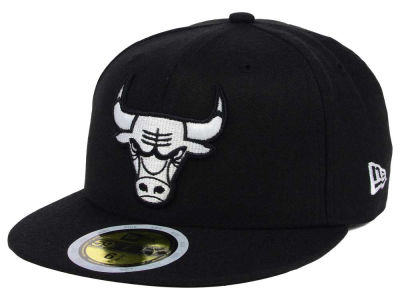 Chicago Bulls New Era NBA Kids Black White 59FIFTY Cap