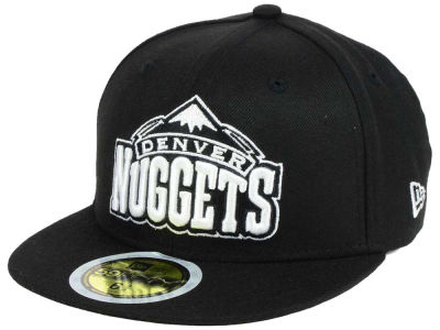 Denver Nuggets New Era NBA Kids Black White 59FIFTY Cap
