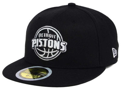 Detroit Pistons New Era NBA Kids Black White 59FIFTY Cap