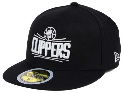 Los Angeles Clippers New Era NBA Kids Black White 59FIFTY Cap