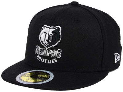 Memphis Grizzlies New Era NBA Kids Black White 59FIFTY Cap