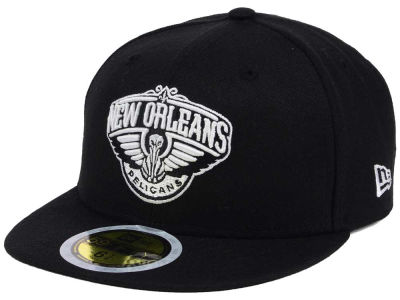 New Orleans Pelicans New Era NBA Kids Black White 59FIFTY Cap