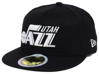 Utah Jazz New Era NBA Kids Black White 59FIFTY Cap