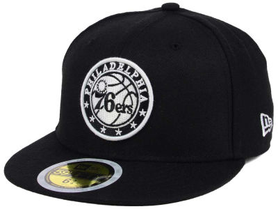 Philadelphia 76ers New Era NBA Kids Black White 59FIFTY Cap