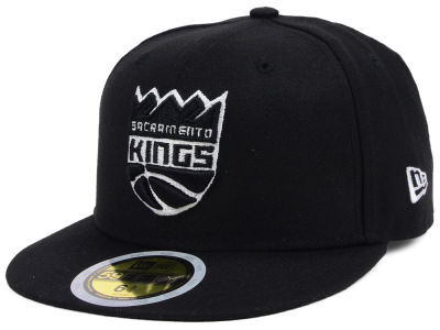 Sacramento Kings New Era NBA Kids Black White 59FIFTY Cap