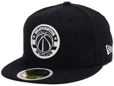 Washington Wizards New Era NBA Kids Black White 59FIFTY Cap