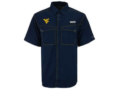 West Virginia Mountaineers NCAA Men's Low Drag Off Shore Button Up Shirt