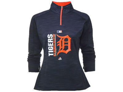 Detroit Tigers Majestic MLB Women's AC Team Strike 1/4 Zip Pullover
