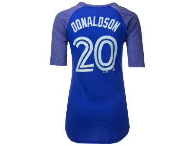 Toronto Blue Jays Josh Donaldson Majestic MLB Women's On Field Victory 1/2 Sleeve T-Shirt