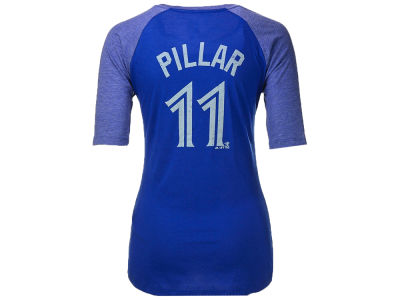 Toronto Blue Jays Kevin Pillar Majestic MLB Women's On Field Victory 1/2 Sleeve T-Shirt