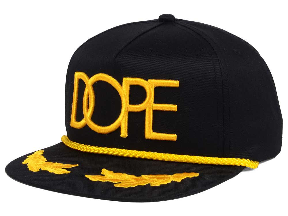 Dope Gold Captain Snapback Cap  8c09acebe9b