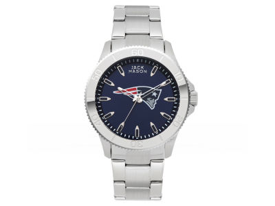 New England Patriots Men's Color Sport Bracelet Watch