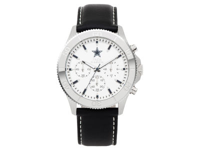 Dallas Cowboys Men's Chrono Leather Watch
