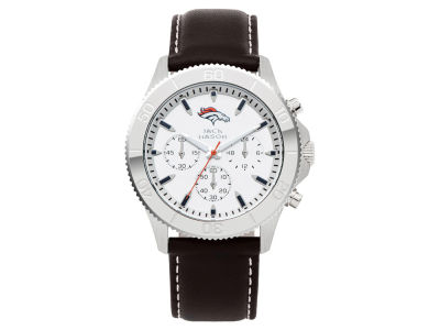 Denver Broncos Men's Chrono Leather Watch