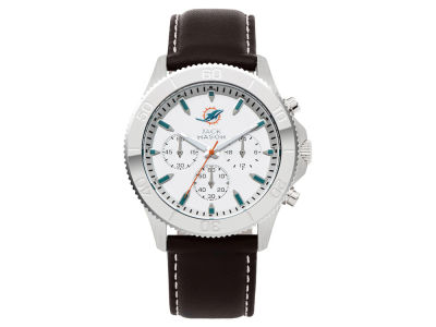 Miami Dolphins Jack Mason Men's Chrono Leather Watch