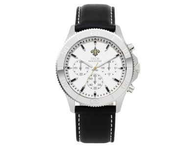 New Orleans Saints Jack Mason Men's Chrono Leather Watch