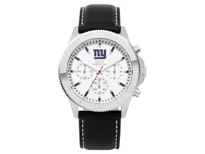 New York Giants Jack Mason Men's Chrono Leather Watch
