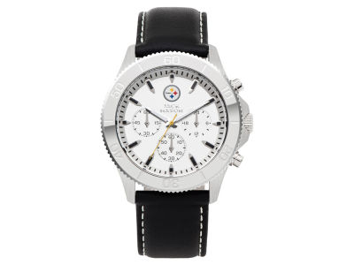 Pittsburgh Steelers Jack Mason Men's Chrono Leather Watch