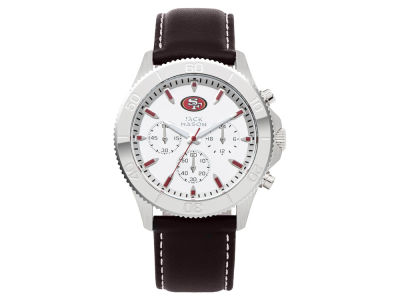 San Francisco 49ers Men's Chrono Leather Watch