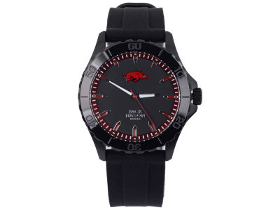 Arkansas Razorbacks Men's Blackout Silicone Strap Watch
