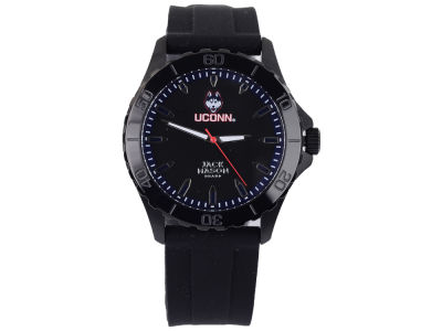 Connecticut Huskies Men's Blackout Silicone Strap Watch