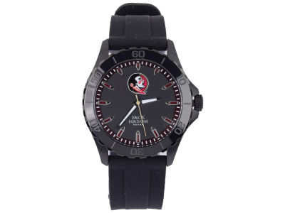 Florida State Seminoles Men's Blackout Silicone Strap Watch