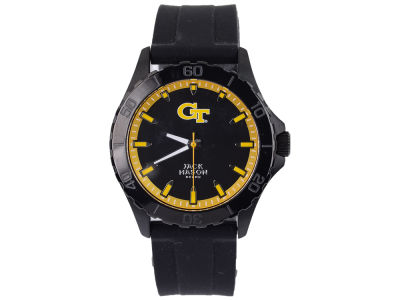 Georgia-Tech Men's Blackout Silicone Strap Watch