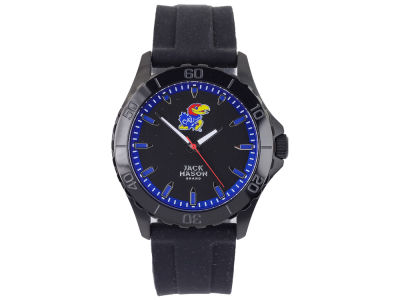 Kansas Jayhawks Men's Blackout Silicone Strap Watch