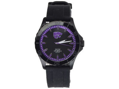 Kansas State Wildcats Jack Mason Men's Blackout Silicone Strap Watch