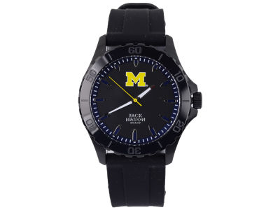 Michigan Wolverines Jack Mason Men's Blackout Silicone Strap Watch