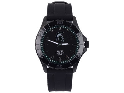 Michigan State Spartans Jack Mason Men's Blackout Silicone Strap Watch