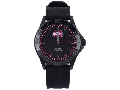 Mississippi State Bulldogs Jack Mason Men's Blackout Silicone Strap Watch
