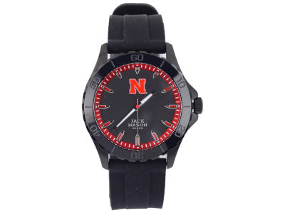 Nebraska Cornhuskers Jack Mason Men's Blackout Silicone Strap Watch