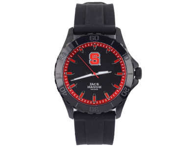 North Carolina State Wolfpack Jack Mason Men's Blackout Silicone Strap Watch