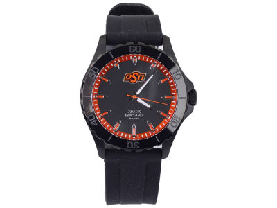 Oklahoma State Cowboys Men's Blackout Silicone Strap Watch