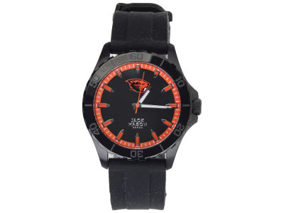 Oregon State Beavers Jack Mason Men's Blackout Silicone Strap Watch