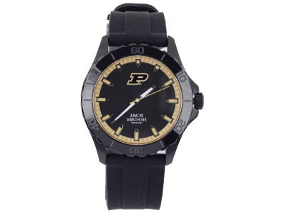 Purdue Boilermakers Men's Blackout Silicone Strap Watch