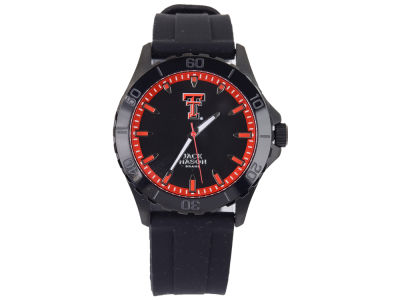 Texas Tech Red Raiders Men's Blackout Silicone Strap Watch