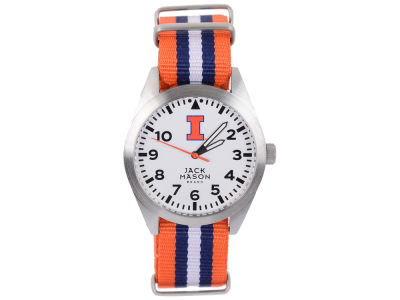 Illinois Fighting Illini Jack Mason Men's Striped NATO Strap Watch