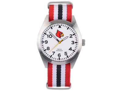 Louisville Cardinals Men's Striped NATO Strap Watch