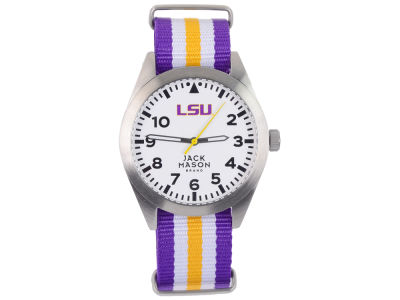 LSU Tigers Jack Mason Men's Striped NATO Strap Watch