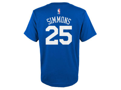 Philadelphia 76ers Ben Simmons NBA Youth Name And Number T-Shirt