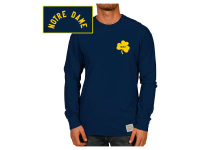 Notre Dame Fighting Irish Retro Brand NCAA Men's Slub Long Sleeve T-Shirt