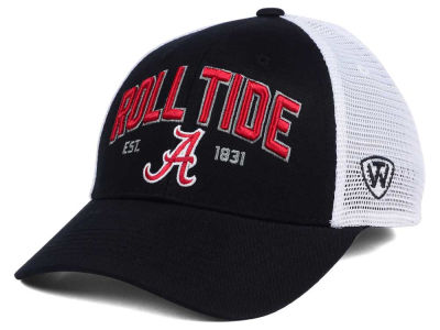 Alabama Crimson Tide NCAA 2 for $25 Top of the World NCAA Black Mesh Teamwork Snapback Cap