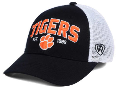 Clemson Tigers NCAA 2 for $25 Top of the World NCAA Black Mesh Teamwork Snapback Cap