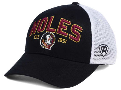 Florida State Seminoles NCAA 2 for $28 Top of the World NCAA Black Mesh Teamwork Snapback Cap