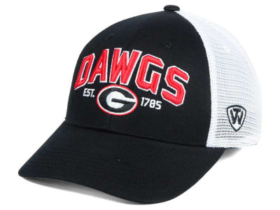 Georgia Bulldogs NCAA 2 for $25 Top of the World NCAA Black Mesh Teamwork Snapback Cap
